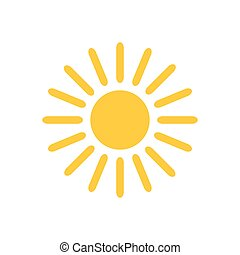 nap, icon., vektor, ábra