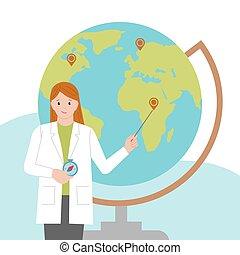 nap, isolated., science., nők, háttér, női, lány, nemzetközi...