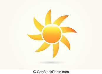 nap, kép, vektor, jel