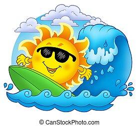 nap, szörfözás, elhomályosul