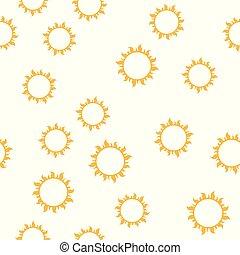 nap, vektor, seamless, motívum