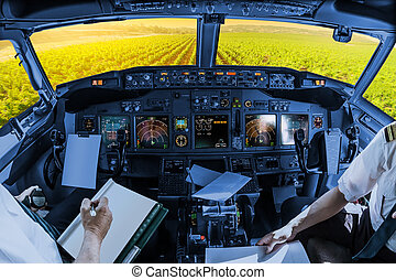 Napa Valley cockpit - Airplane cockpit flying on Napa Valley...
