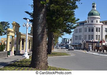 Napier - New Zealand - NAPIER, NZL - DEC 03 2014:Sound Shell...