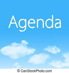 napirend, felhő, ikon, noha, tervezés, képben látható, kék ég, háttér