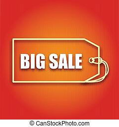 napis, handlowy, afisz, sprzedaż, wektor, projektować, cielna, twój