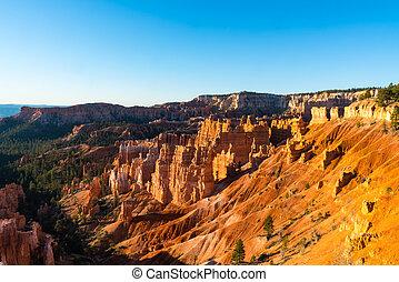 napkelte, -ban, bryce kanyon nemzeti dísztér, utah