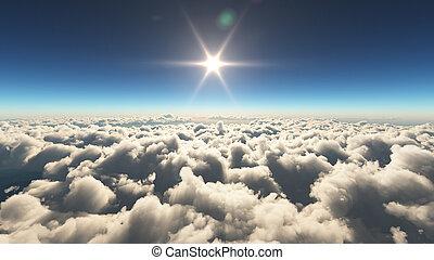 napkelte, felül, alatt, elhomályosul
