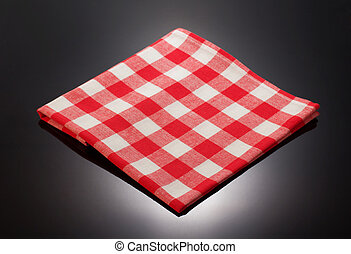 napkin cloth on black background