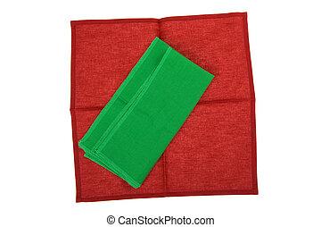 napkin macro - object on white - napkin close up
