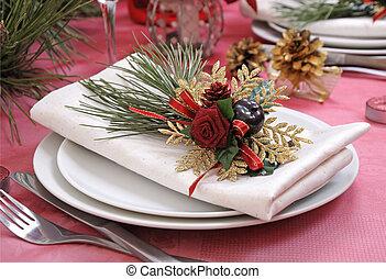 napkin on a festive table