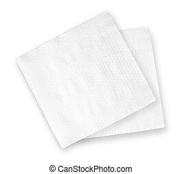 napkin - White Square Bar Napkin Isolated on White...