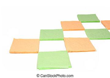 napkins on white background