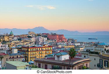 Naples at dusk, Italy