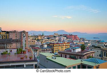 Naples at twilight, Italy