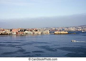 Naples\\\' castle and city
