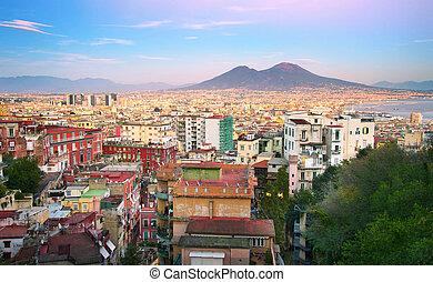 Naples cityscape, Italy