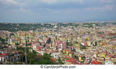 Naples from a hilltop, Italy, 4k UHD