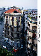 Naples from above. Italy - Morning in Naples city, view from...