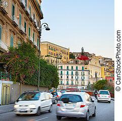 Naples road traffic, Italy