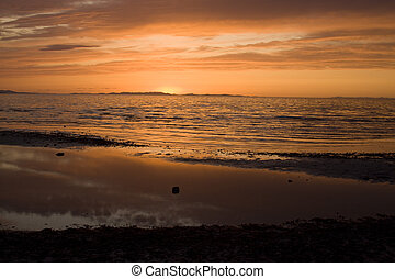 napnyugta, a parton