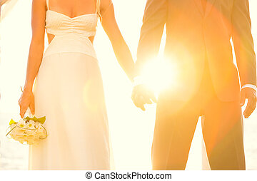napnyugta, esküvő