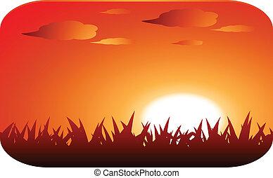 napnyugta, gyönyörű