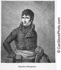 Napoleon Bonaparte, engraving portrait