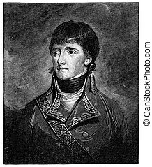 Young Napoleon as first consul. Vintage engraving from Harper's Monthly magazine 1879. The image is currently in public domain by the virtue of age.