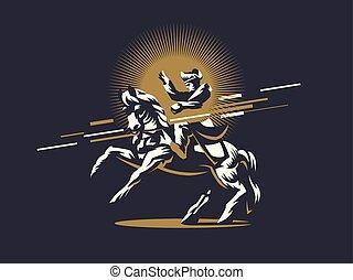 napoleon, horseback.