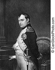 Napoleon I - Napoleon Bonaparte (1769-1821) on engraving...