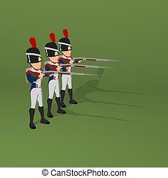 napoleonic, 兵士