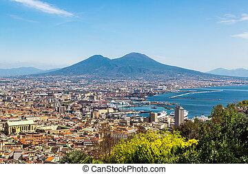 Napoli and mount Vesuvius in Italy - Napoli (Naples) and ...