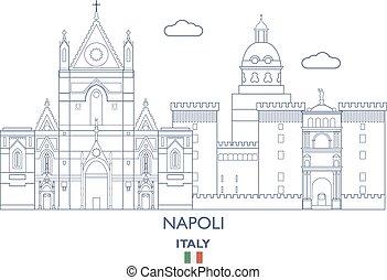 Napoli City Skyline, Italy