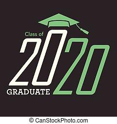 nappa, berretto, congratulazioni, tipografia, 2020, laureato...