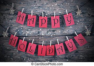 nappal, szüret, keret, ünnepek, kártya, karácsony, piros, boldog