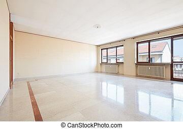 nappali, márvány, üres, emelet