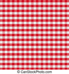 nappe, checkered, tissu, rouges
