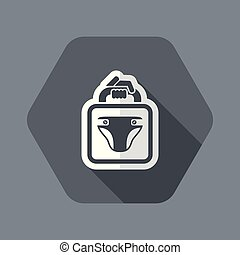 Nappy store - Flat and isolated vector illustration icon...