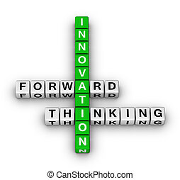naprzód, myślenie, innowacja