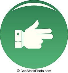 naprzód, wektor, zielony, ręka, ikona