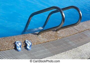 napszemüveg, pocsolya, úszás