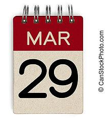 naptár, elront, 29