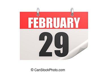 naptár, február, 29