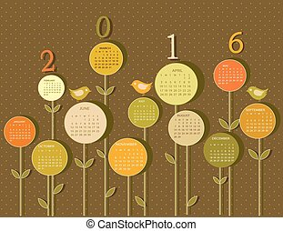 naptár, helyett, 2016, év, noha, menstruáció