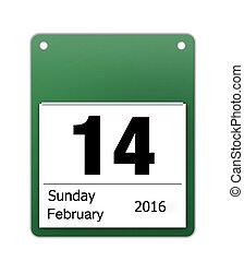 naptár, ikon, helyett, valentines nap, képben látható, 14...