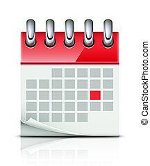 naptár, ikon