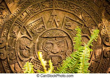 naptár, mayan, aztec