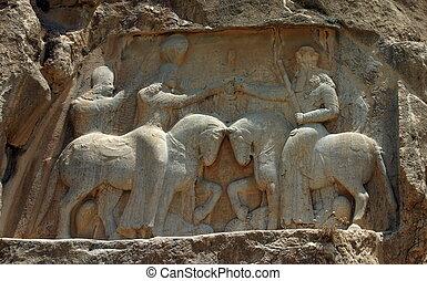 naqsh-e, rostam, tombeaux, de, persan, rois, iran