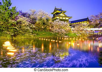 nara, japán, castle., koriyama