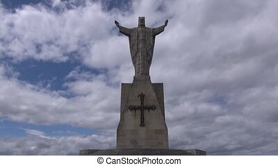 Naranco christ fast 30 - public monument at Naranco mountain...